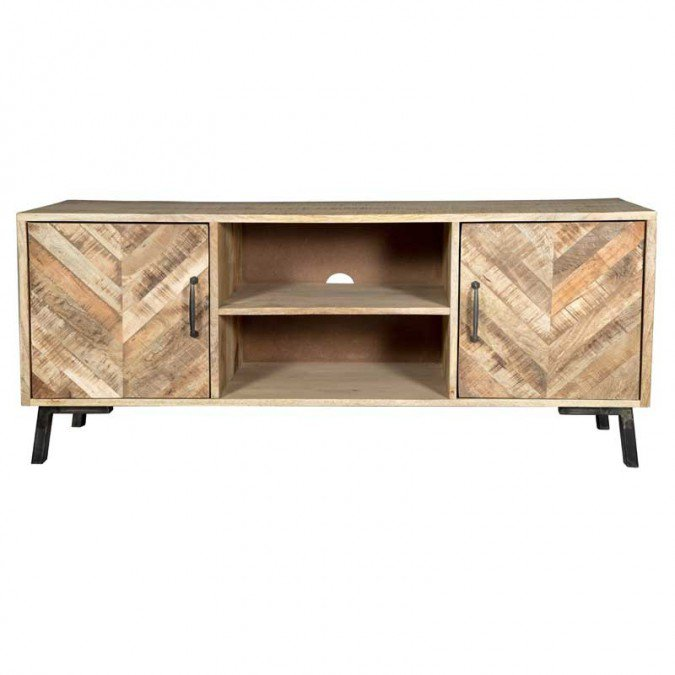 TV Meubel Laguna 135cm Massief Mango Hout - VI-TV01