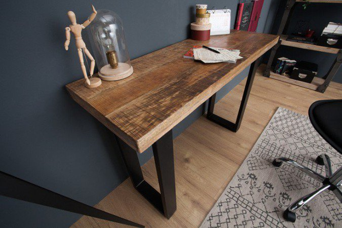 Sidetable Iron Craft 115cm Massief Mango Hout - 38664