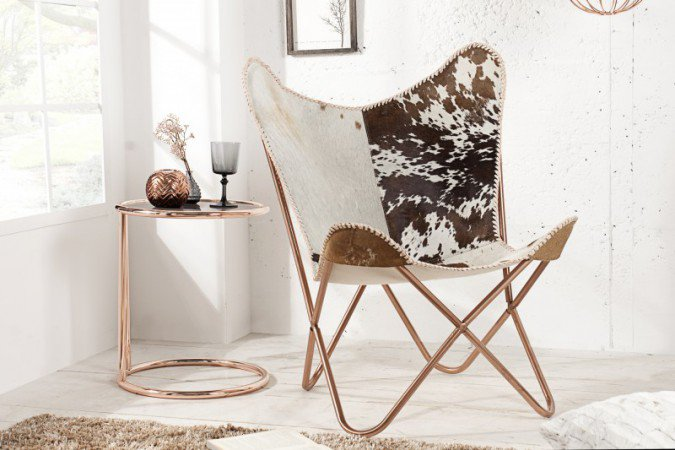 Fauteuil Butterfly Bruin/Wit - 36271