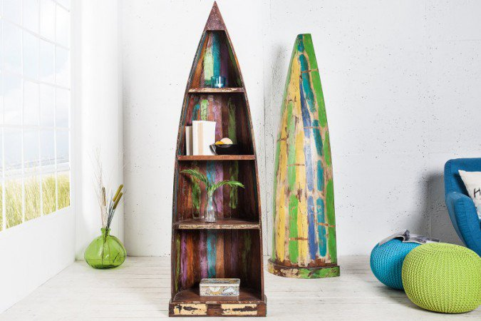 Kast Borneo 190cm Gerecycled Hout  - 36357