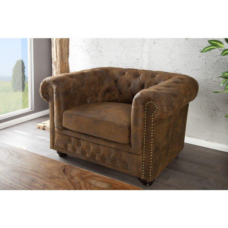 chesterfield fauteuil antieke look online bestellen ventura design. Black Bedroom Furniture Sets. Home Design Ideas