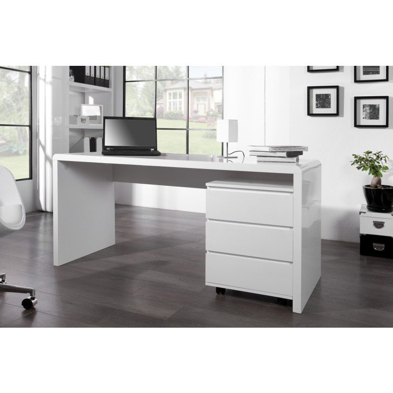bureau fast trade 160cm wit online bestellen ventura design. Black Bedroom Furniture Sets. Home Design Ideas
