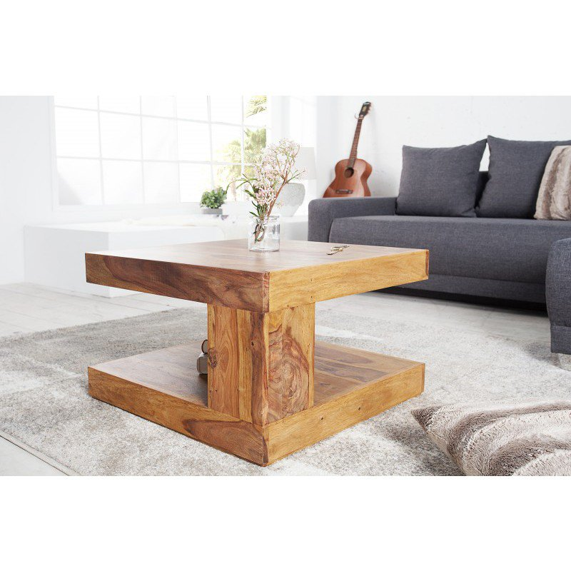 Salontafel giant 60cm sheesham honey online bestellen ventura design - Decoratie tafel basse ...
