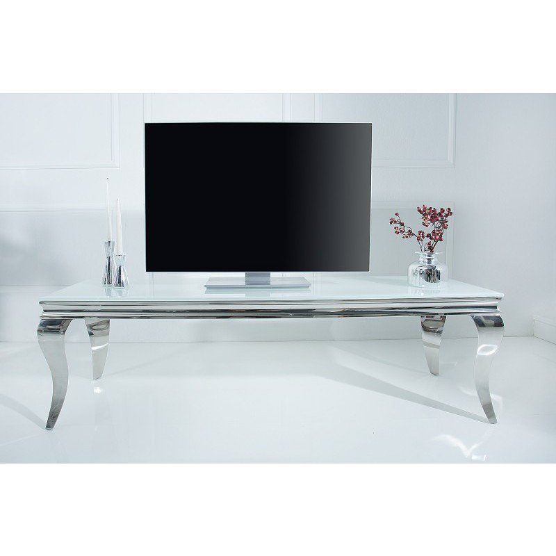 tv meubel modern barok 160cm wit zilver online bestellen ventura design. Black Bedroom Furniture Sets. Home Design Ideas