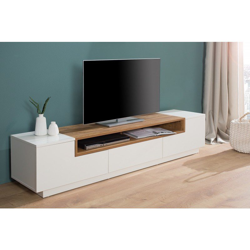 Eiken Tv Meubel Wit.Tv Meubel Empire Wit Sonoma 180cm Online Bestellen Ventura Design