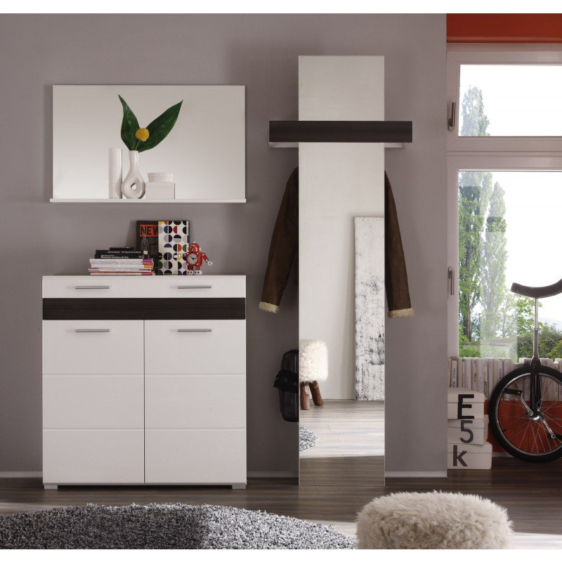 spiegel mezzo 91x56cm wit online bestellen ventura design. Black Bedroom Furniture Sets. Home Design Ideas
