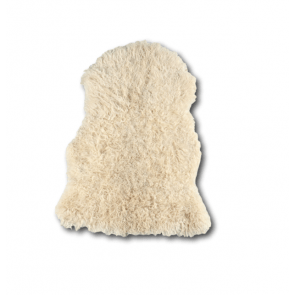 Vloerkleed Curly Sheepskin White Heads 100x70cm - VD-SK02WM