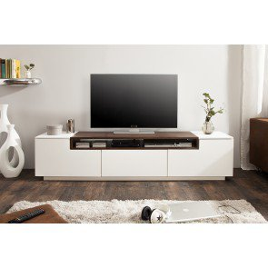 TV Meubel Loft 180cm wit Walnoot - 39447