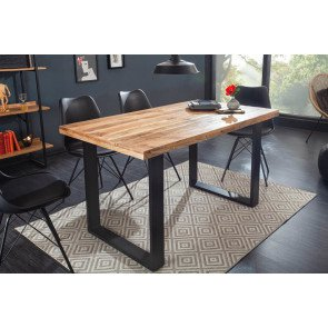 Eettafel Iron Craft 120 cm Massief Mango Hout 45 mm - 39875