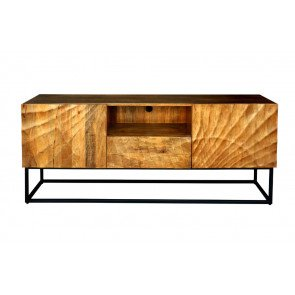 TV Meubel Scorpion 160cm Massief Mango Hout - 40252