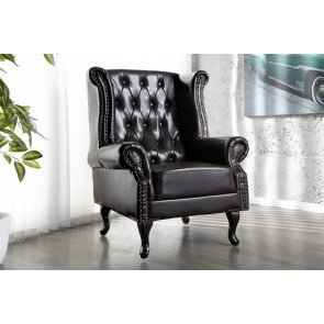Fauteuil Chesterfield Dark Coffee - 9690