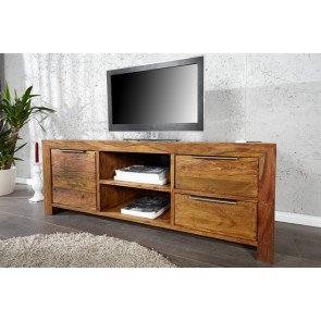 TV Meubel Lagos 135cm Massief Sheesham Hout  - 22684