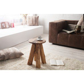 Hocker Hemmingway 45cm Massief Hout - 36136