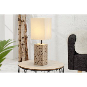 Tafellamp Natural Mosaic Wit 15cm - 36969