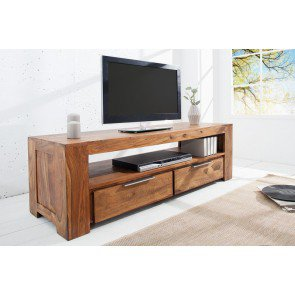 TV meubel Makassar 135x45cm Massief Sheesham Hout - 37892
