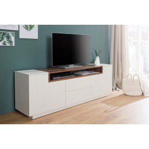 TV Meubel Empire wit / walnoot 180cm - 37528