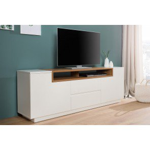 TV Meubel Empire wit / eiken 180cm - 37529