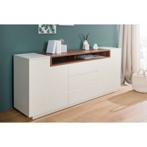Dressoir Empire wit / walnoot 180cm - 37530
