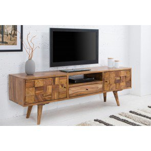 TV Meubel Mosaico 140cm Massief Sheesham Hout - 38417