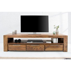Tv meubel Makassar 170cm Massief Sheesham Hout - 38111