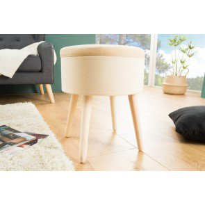 Hocker Multi Talent Beige Fluweel - 38610