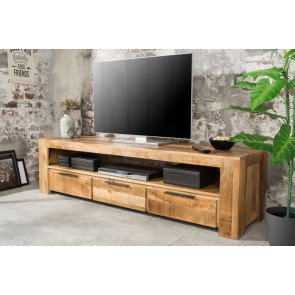 Tv Meubel Iron Craft 170cm Massief Mango Hout - 38929