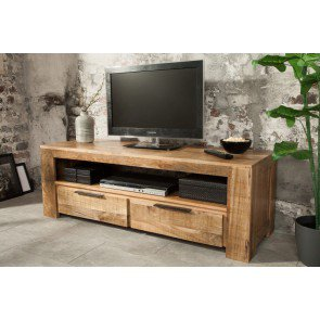 TV Meubel Iron Craft 130cm Massief Mango Hout - 38931