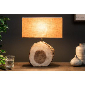 Tafellamp Pure Nature 46cm Massief Walnoot Hout - 39619