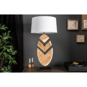 Tafellamp Organic Artwork 91cm walnoot - 39629