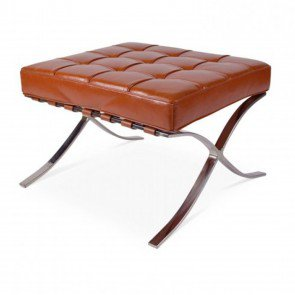 Hocker Expo Splitleder Cognac - VD-H01SC