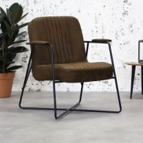 Fauteuil Lester Stoef Industrieel Bruin - VD-F19IB