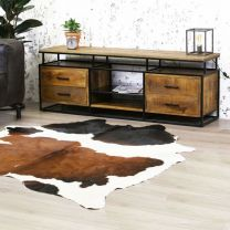 TV Meubel Austin Industrieel Massief Mango Hout - VI-TV03