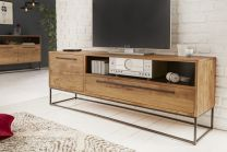 TV-Meubel Straight 165cm Massief Acacia Hout - 40296