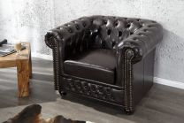 Chesterfield Fauteuil Dark Coffee - 9684