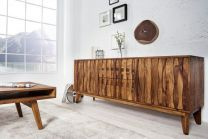 Dressoir Retro 160cm Massief Sheesham Hout - 36559
