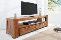 TV meubel Makassar 130x45cm Massief Sheesham Hout - 37892
