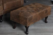 Chesterfield Hocker Antieke Look 80cm - 19449