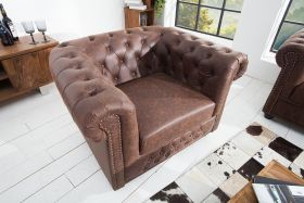 Fauteuil Chesterfield Vintage Bruin - 37200