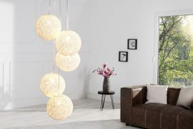 Hanglamp Cocooning Pearls Wit 20cm - 35964